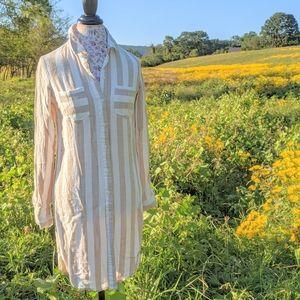 NWOT Long Sleeve Shirt Dress by Hope&Harlow